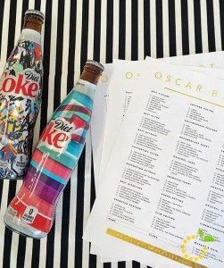 Oscar party ballots and beverages sweetlemonmade.com