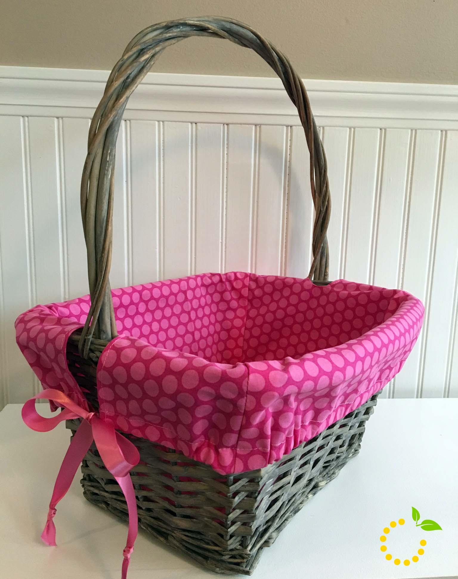 Fabric Lined Basket sweetlemonmade.com