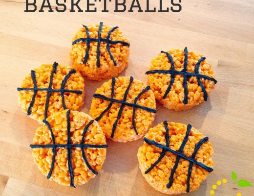 March Madness Rice Krispie Treats sweetlemonmade.com