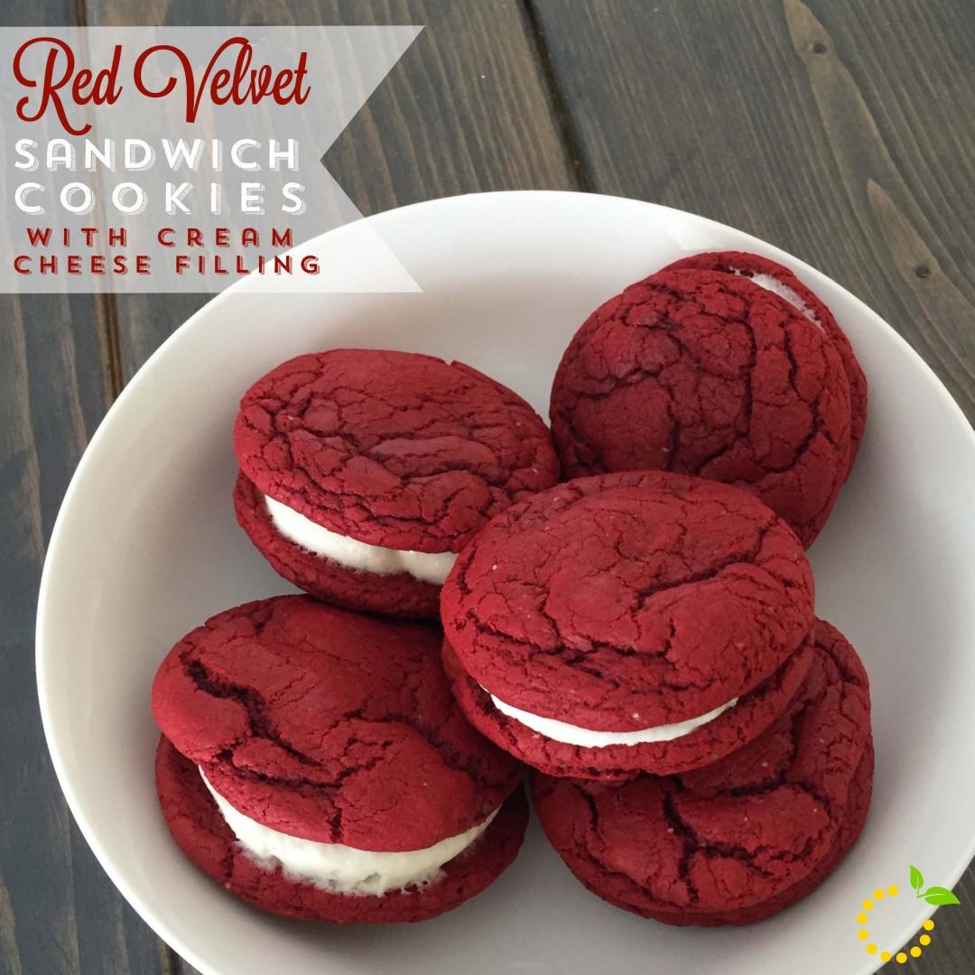 Yummy Red Velvet Cookies sweetlemonmade.com