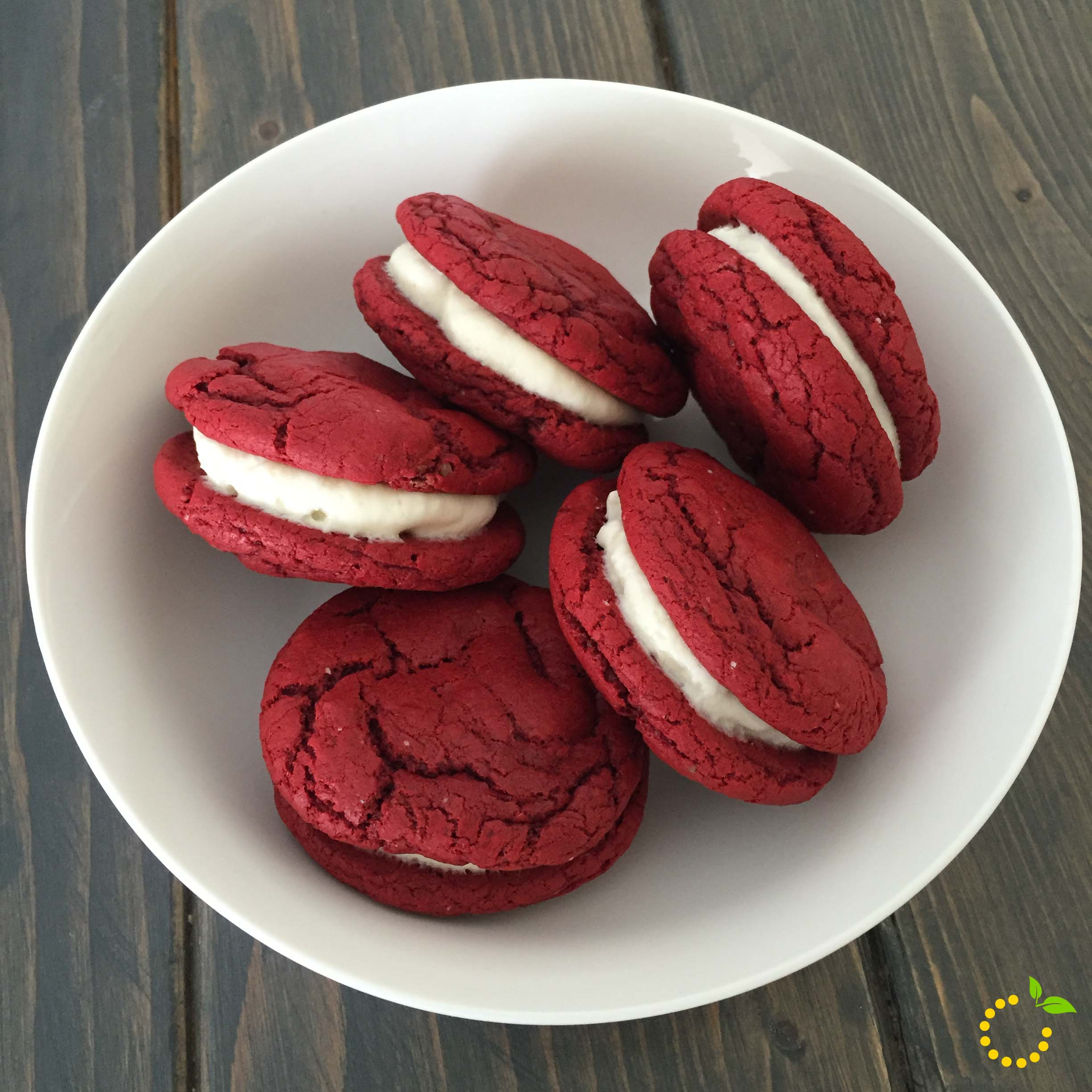 Red Velvet Cookies sweetlemonmade.com