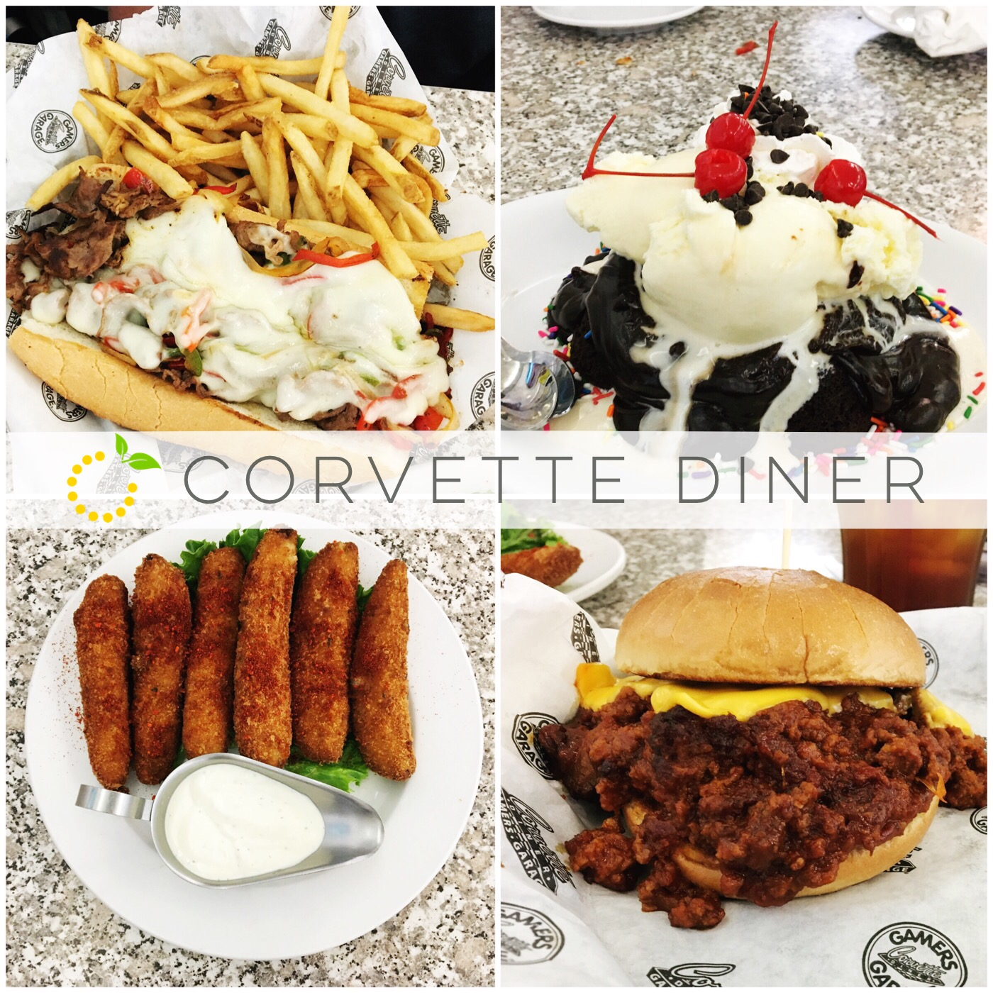 Corvette Diner Food sweetlemonmade.com