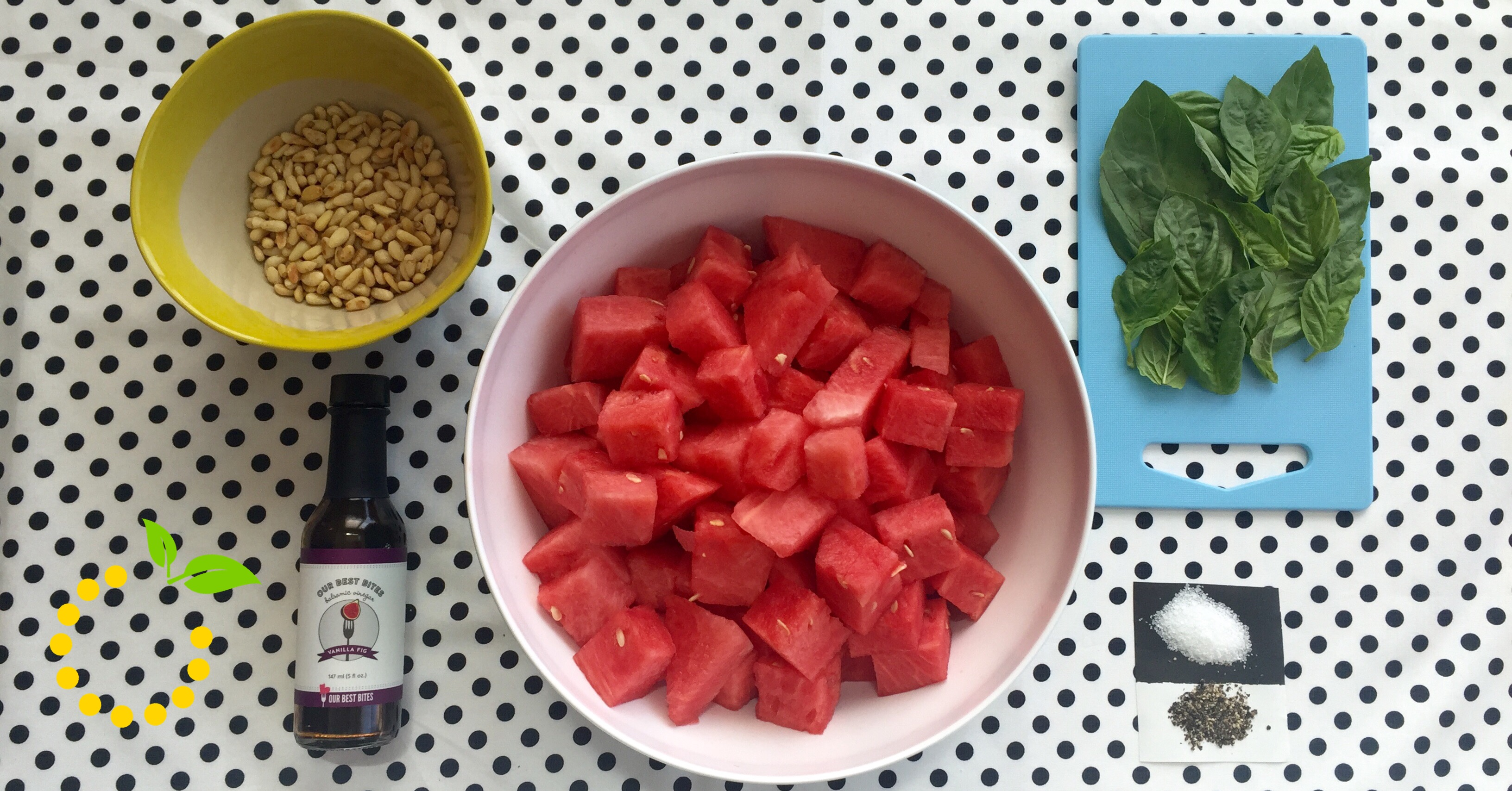 Watermelon Salad Ingredients sweetlemonmade.com