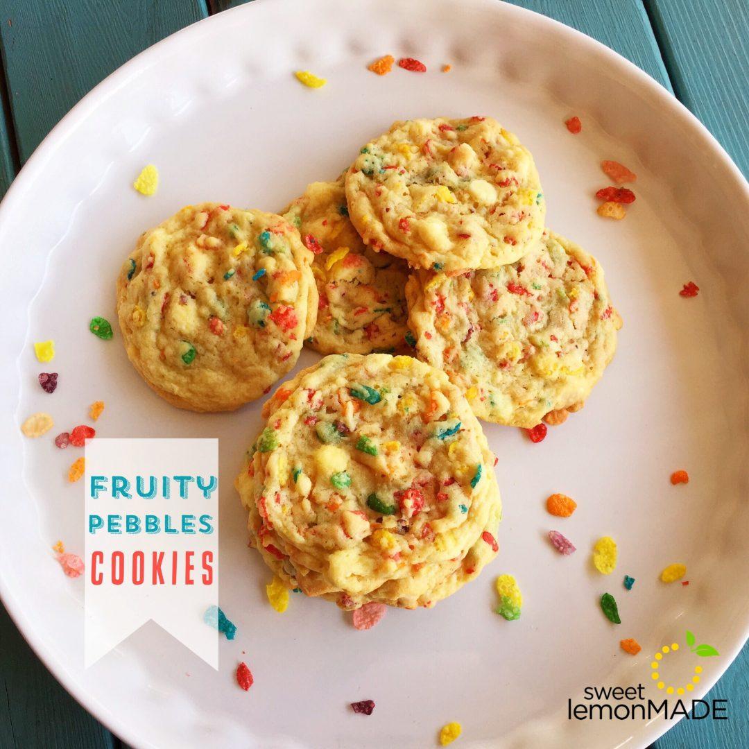 Fruity Pebbles Cookies sweetlemonmade.com