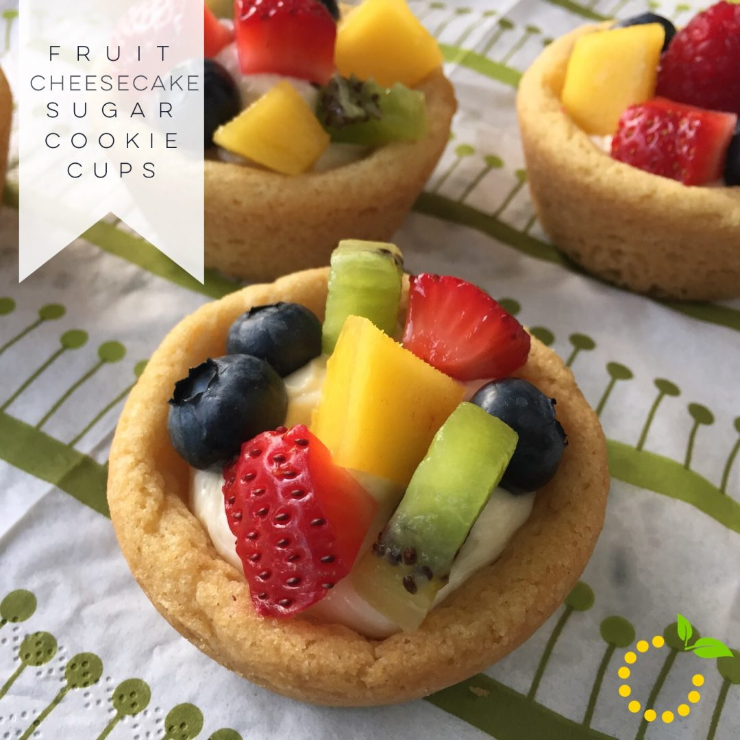 Fruit Cheesecake Sugar Cookie Cups sweetlemonmade.com
