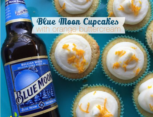 Blue Moon Cupcakes with Cream Cheese Frosting sweetlemonmade.com