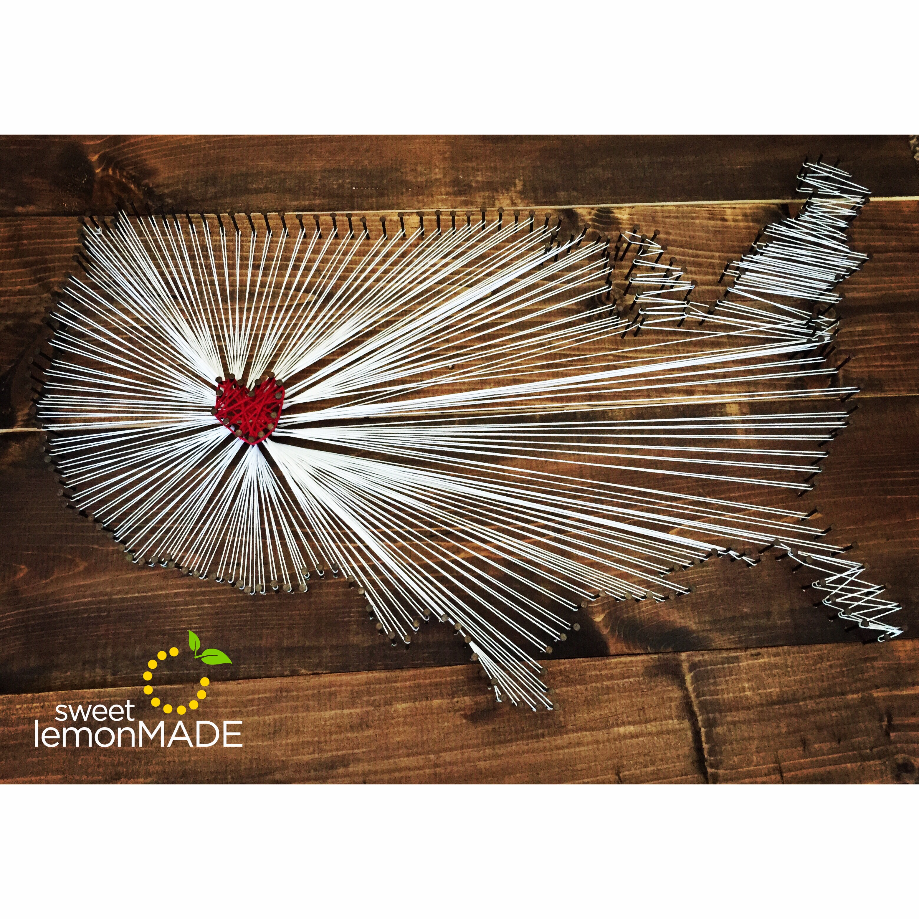 USA String Art sweetlemonmade.com