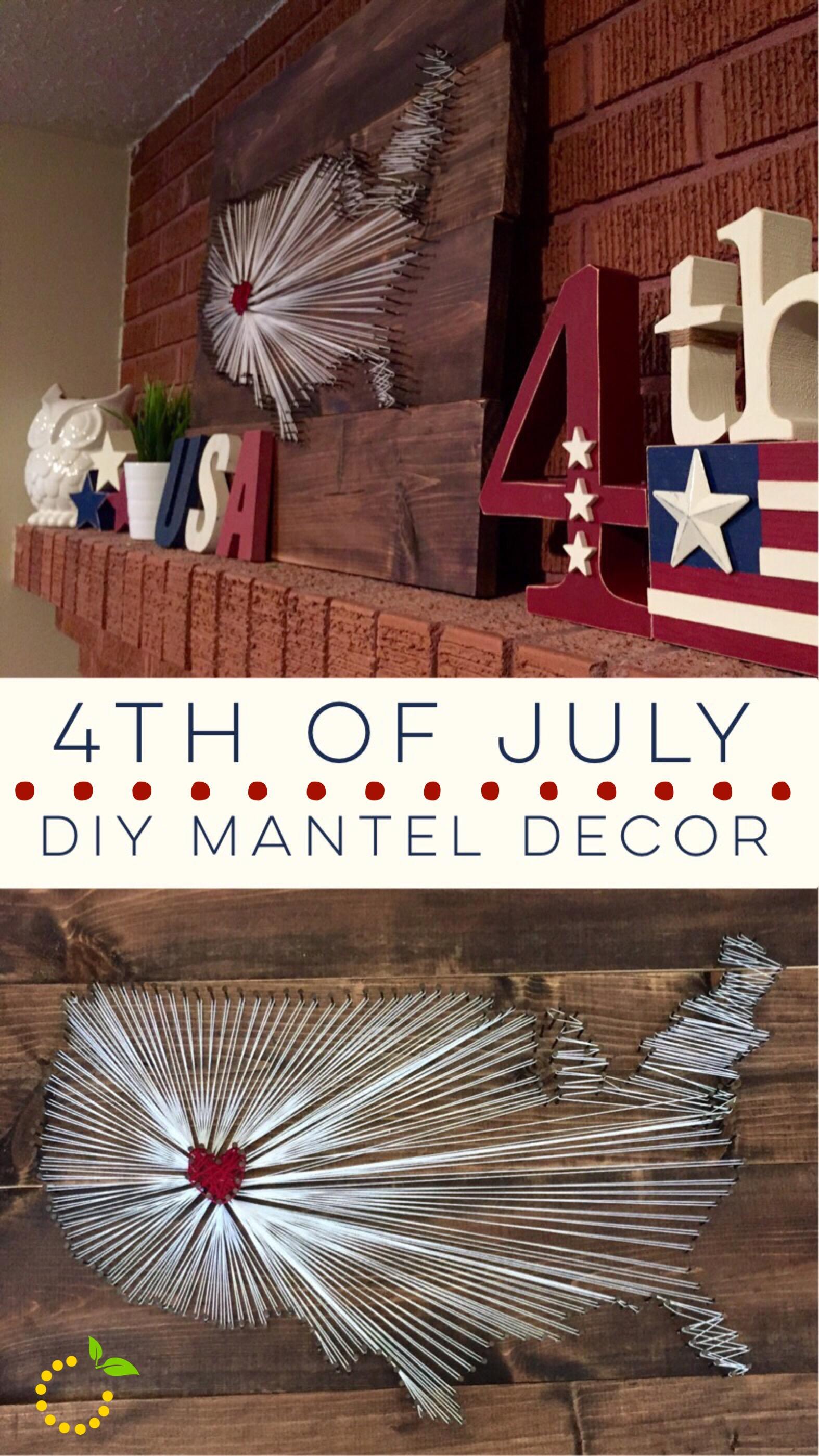Mantle Decor 4th of July sweetlemonmade.com