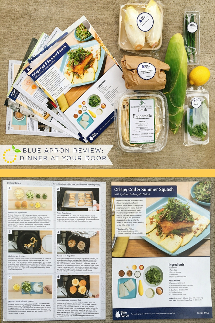 Blue Apron Review: Dinner at Your Door sweetlemonmade.com