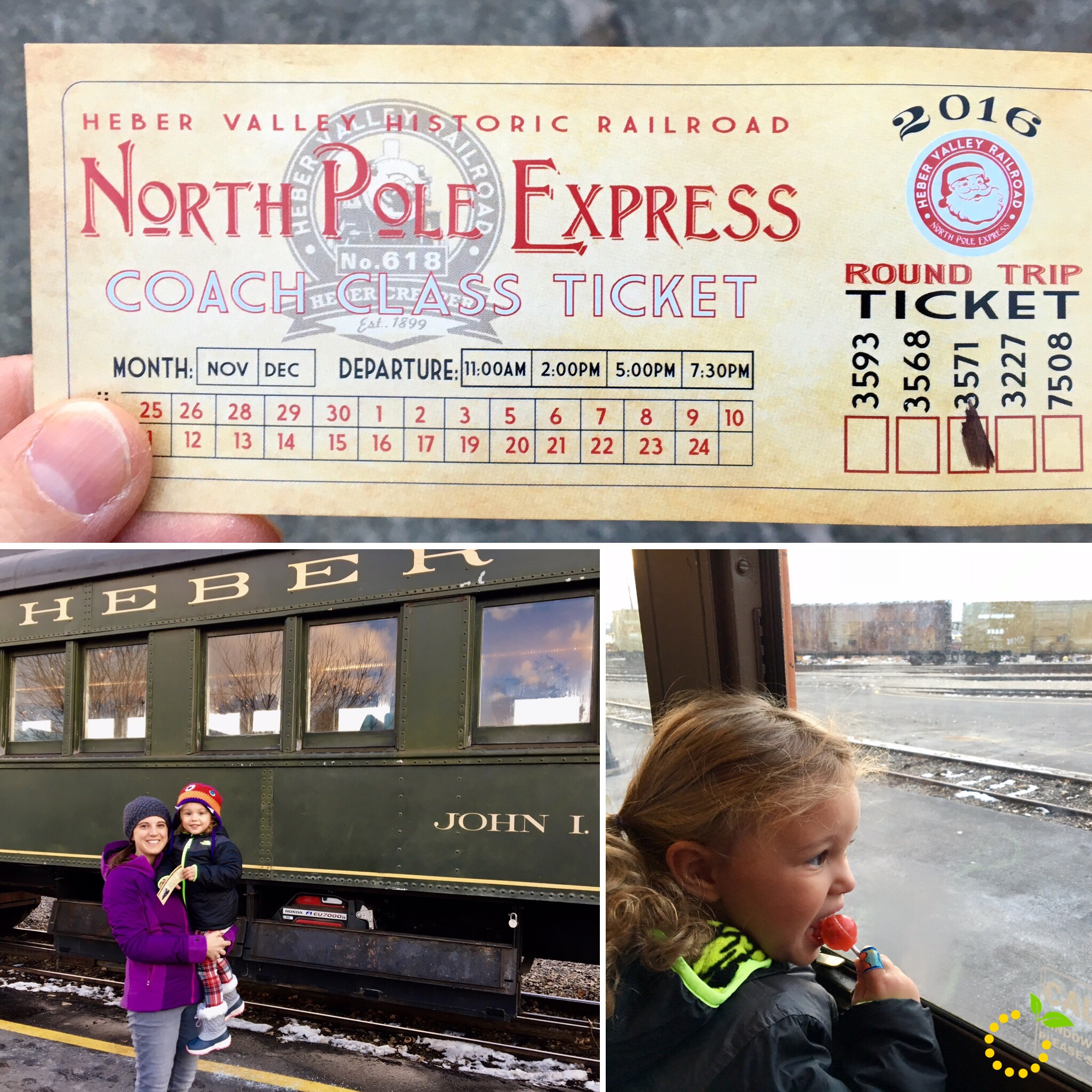 North Pole Ticket sweetlemonmade.com