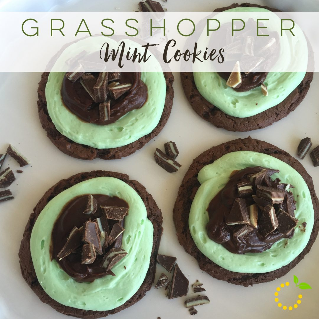 Grasshopper Mint Cookies sweetlemonmade.com