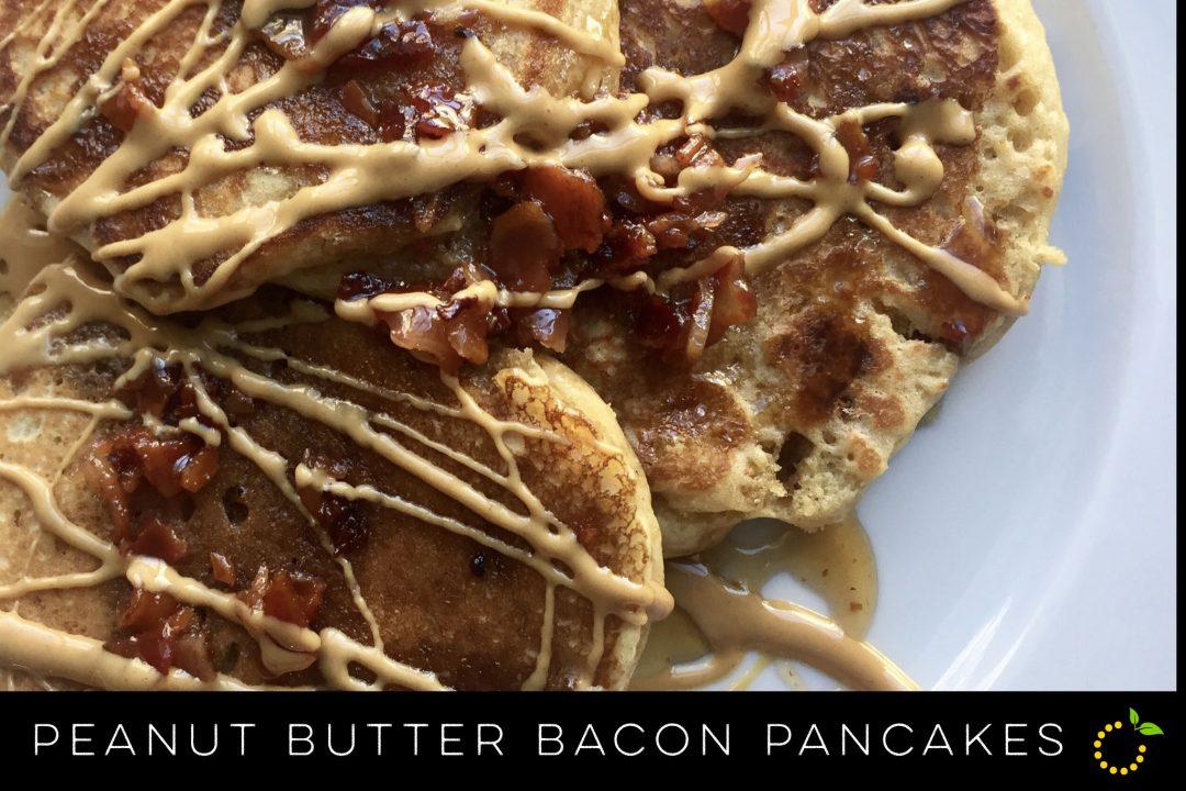 Peanut Butter Bacon Pancakes sweetlemonmade.com