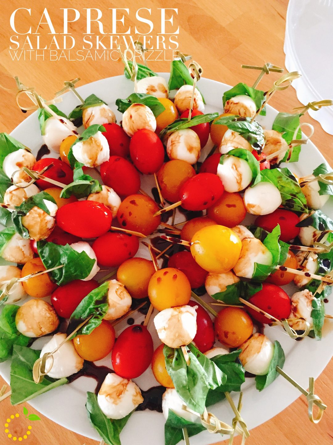Caprese Salad Skewers with Balsamic Drizzle