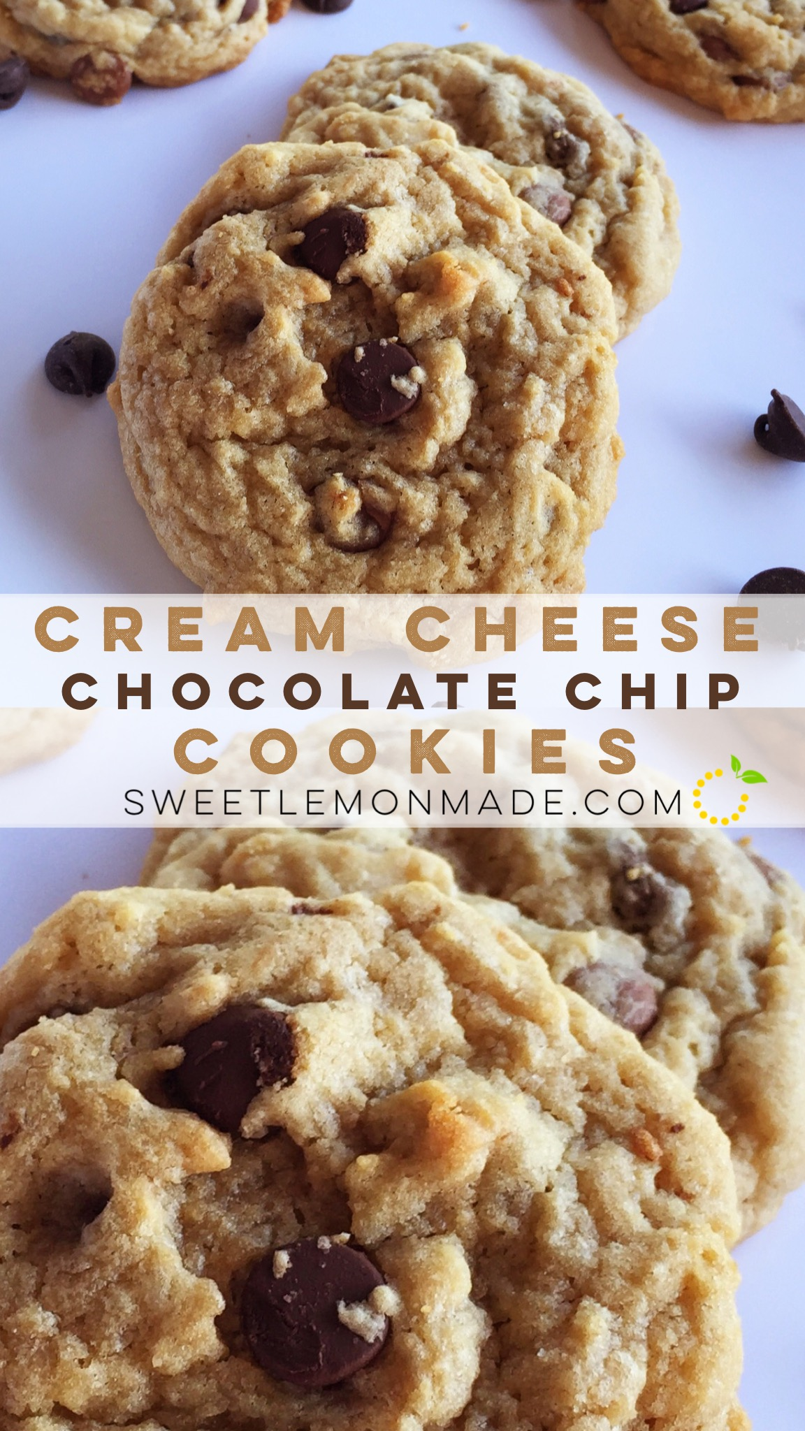 Cream Cheese Chocolate Chip Cookies · Sweet Lemon Made