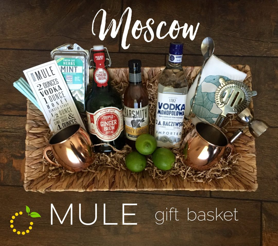 graphic relating to Moscow Mule Recipe Printable named Moscow Mule Reward Basket · Lovable Lemon Produced