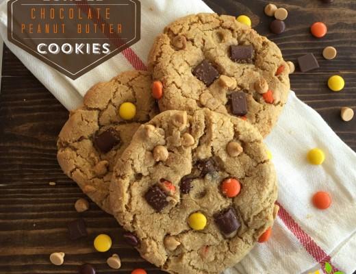 Loaded Chocolate Peanut Butter Cookies sweetlemonmade.com