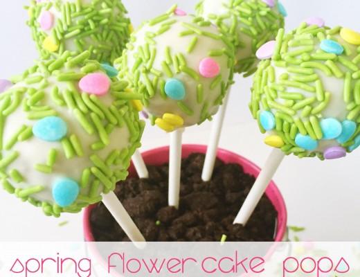 Spring Flower Cake Pop sweetlemonmade.com
