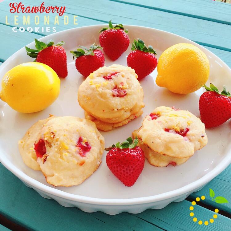 Strawberry Lemon Cheesecake Cookies sweetlemonmade.com