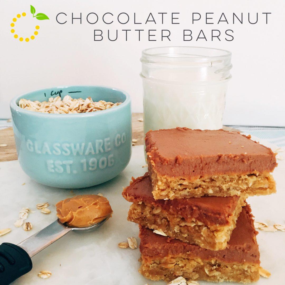 Chocolate Peanut Butter Bars sweetlemonmade.com