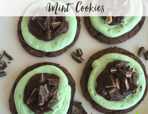 Grasshopper Mint Cookies sweetlemonmade.com